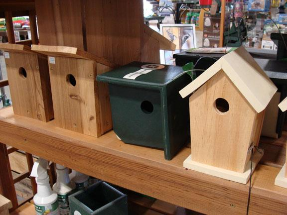Bird houses available at Hillermann Nursery and Florist