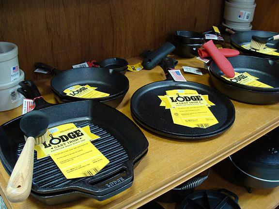 Lodge cast iron cookware items available at Hillermann Nursery and Florist
