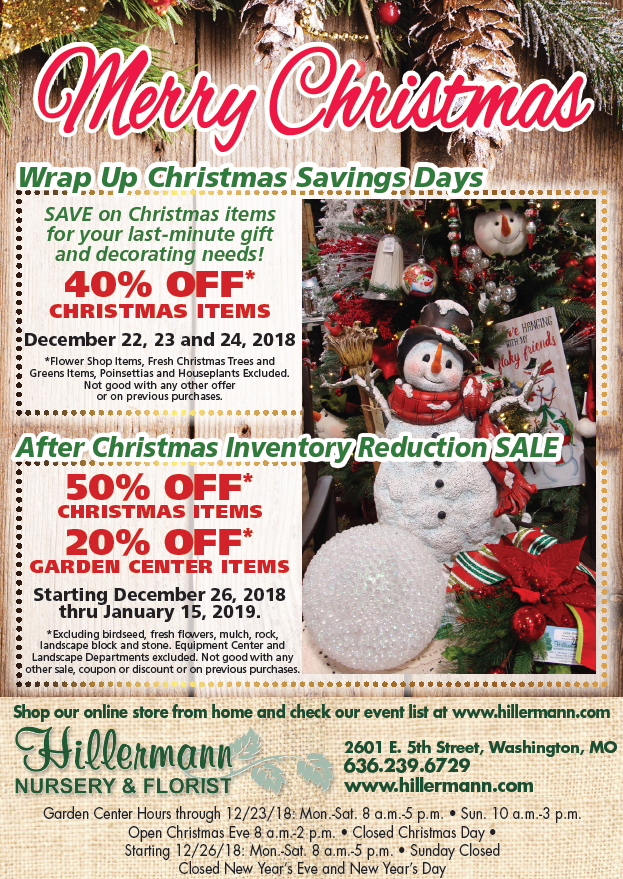 The Hillermann ad in the 12-19-18 issue of the Washington Missourian