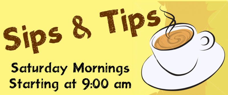 Sips and Tips - group talks - heading graphic