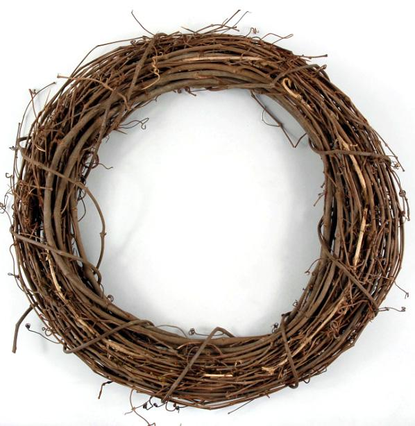 Grapevine wreath - ready to decorate