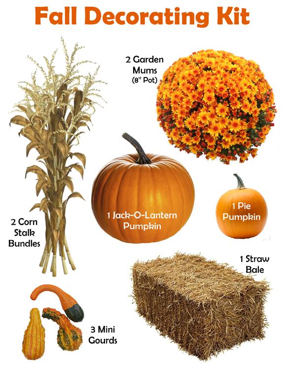 Fall Decorating Kit Items