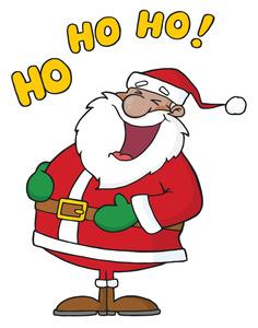 Santa laughing clip art