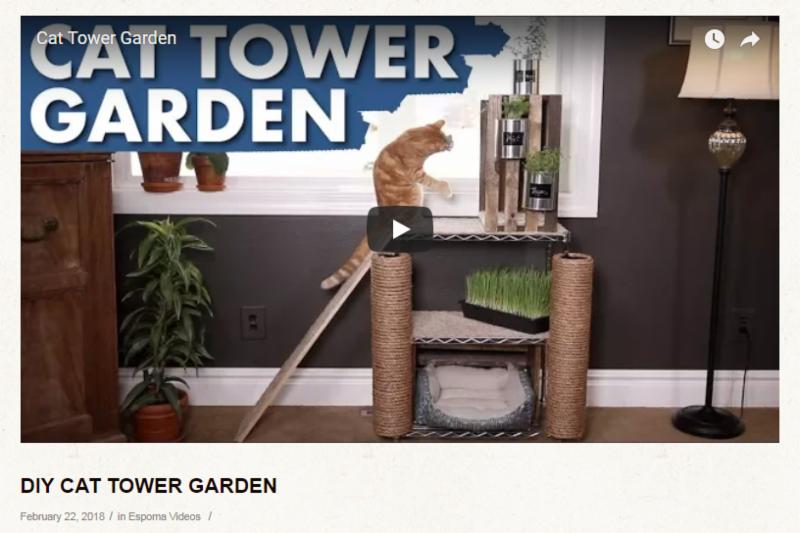 DIY Cat Tower Garden Video from Espoma Videos