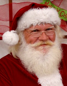 Picture of Santa while visiting Hillermann Nursery & Florist