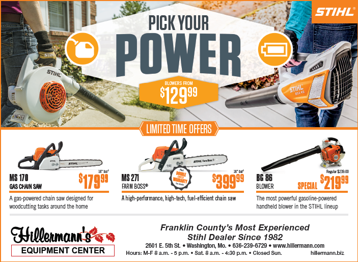 Hillermann Equipment newspaper ad for 12-12-18. STIHL Chain Saws - Blowers and more available