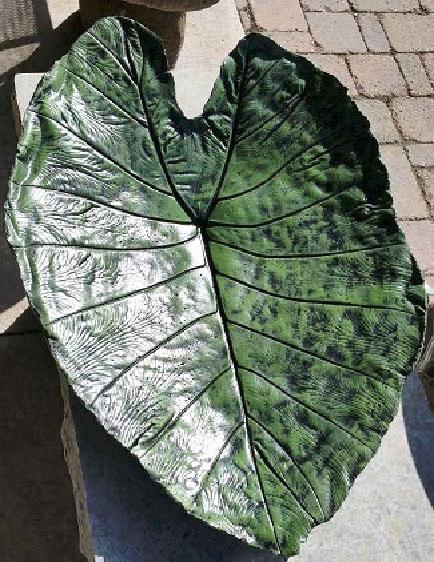 Hand-made concrete leaf from a Make-N-Take class
