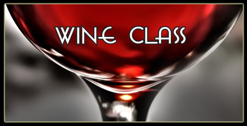 Wine glass picture with text - Wine Class