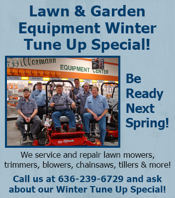 Lawn and Garden Equipment Winter Tune Up Special - Visit or call us at 636-239-6729 for details