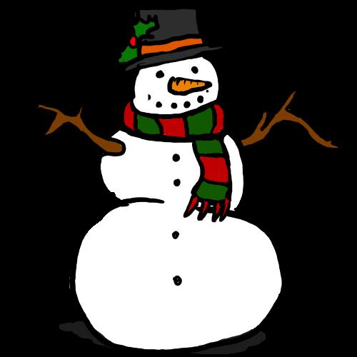 Clip art of a snowman