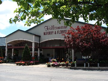 The Garden Center entrance at Hillermann Nursery and Florist