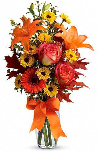 Burst of Autumn floral arrangement by Teleflora available at Hillermann Nursery and Florist