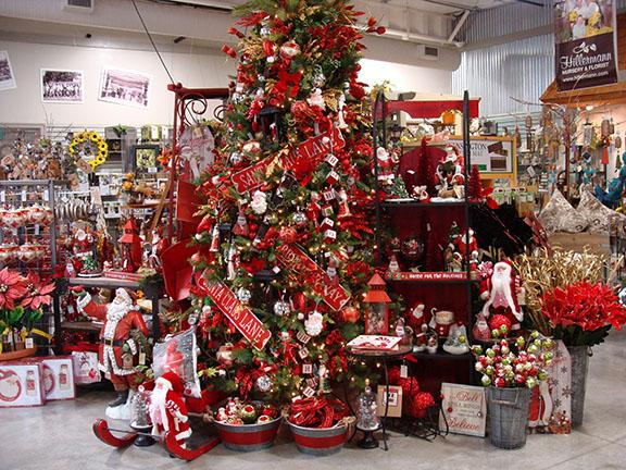 Christmas decorations and gift items available at Hillermann Nursery and Florist - 2018