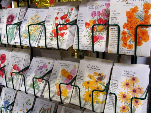 Botanical Interests flower seed packets at Hillermann Nursery and Florist