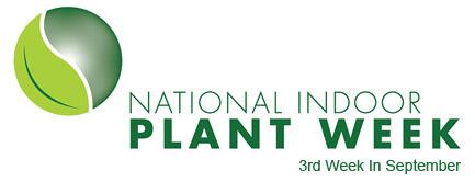 The National Indoor Plant Week logo