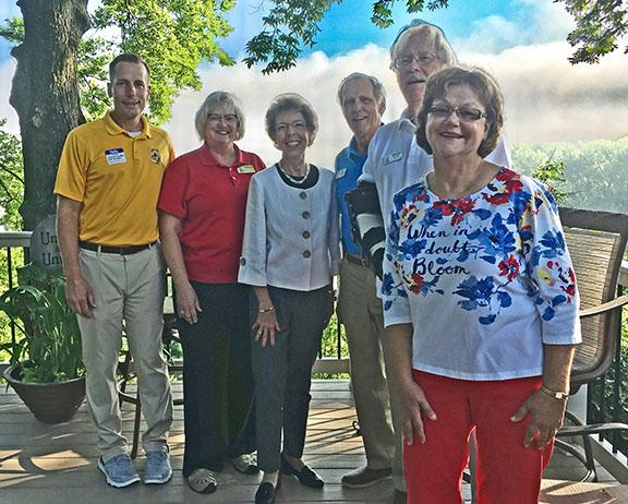 America In Bloom judges with Washington and Washington In Bloom representatives July 2019