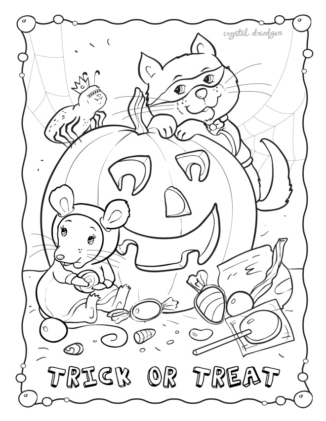Fall-October coloring page