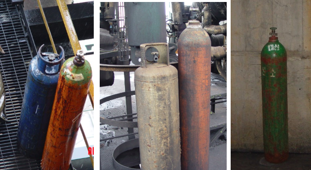 Compressed gas cylinders need to be stored properly
