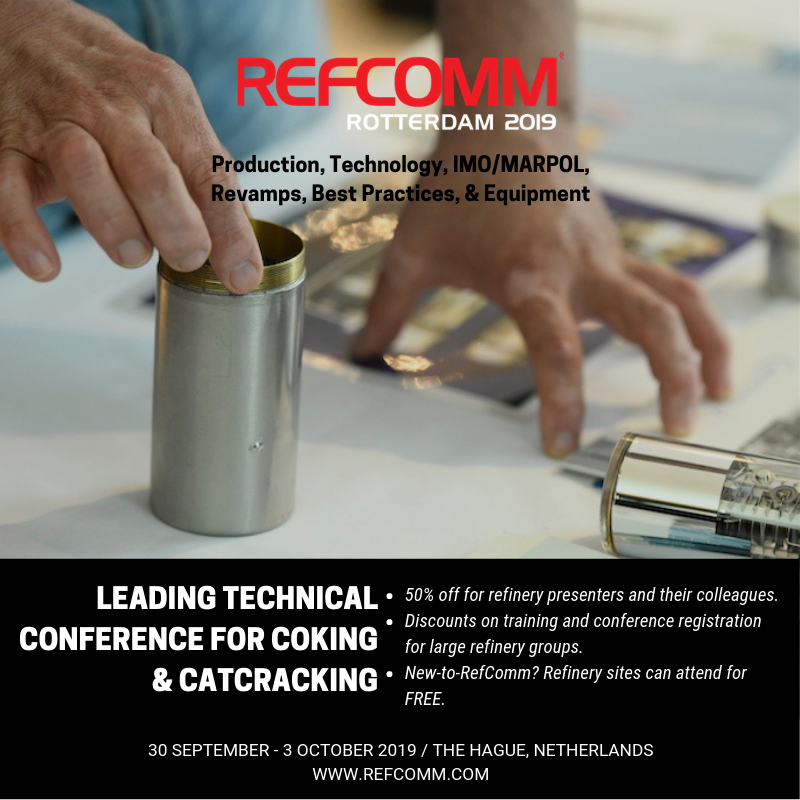 RefComm Rotterdam delayed coking and catcracking technical conference