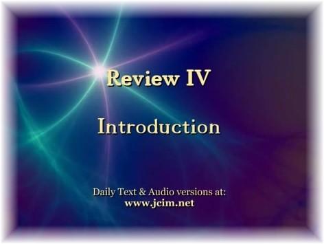 ACIM Review IV