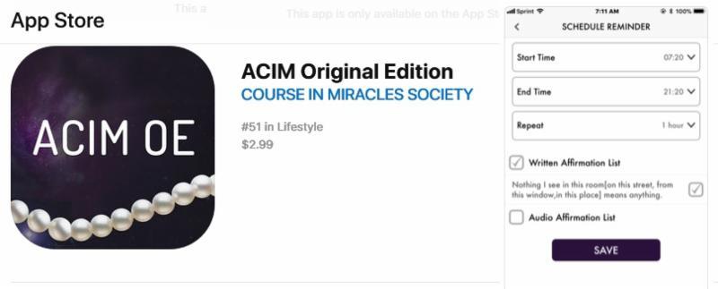 ACIM OE Apple Store