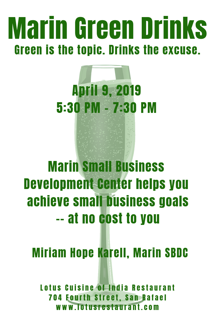 April 2019 Marin Green Drinks