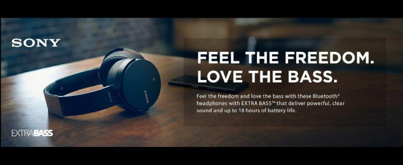 SONY EXTA BASS HEADPHONES XN-950B1/B-  Brand New