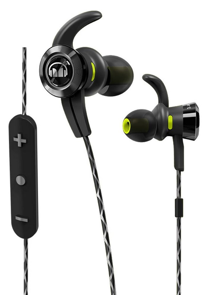Monster iSport Victory Bluetooth Wireless In-Ear Headphones (Earbuds) – Black w/ Microphone, Sports Headphones,Noise Isolation (by Monster)