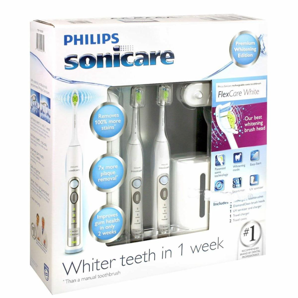 PHILIPS SONICARE FLEXCARE  BUNDLE SPECIAL OFFER-  DUAL VOLTAGE 110-220V – BRAND NEW