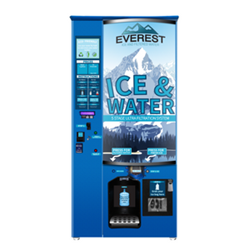Everest Ice _ Water dispenses ice using gravity.