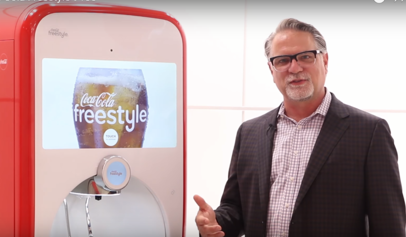 The Coca-Cola Freestyle includes more contemporary features.