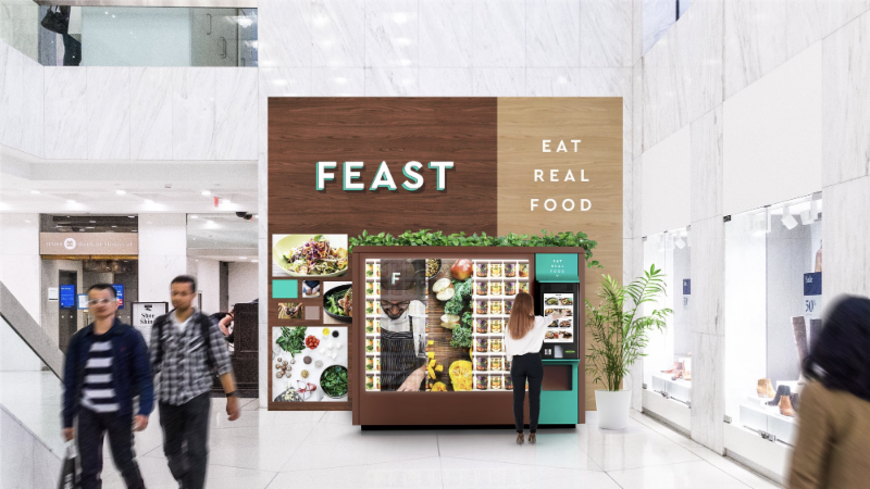 High Tech Food Vending Machines