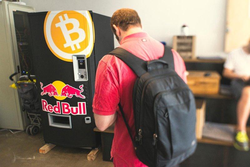 Bitcoin RedBull Vending