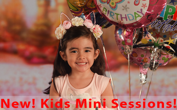 Kids in studio mini sessions