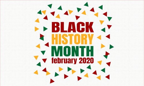 Black History Month February 2020  background. Poster_ card_ banner