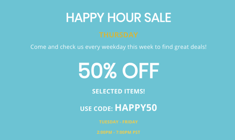 VaporDNA com Newsletter: Check out today's Happy Hour Deal