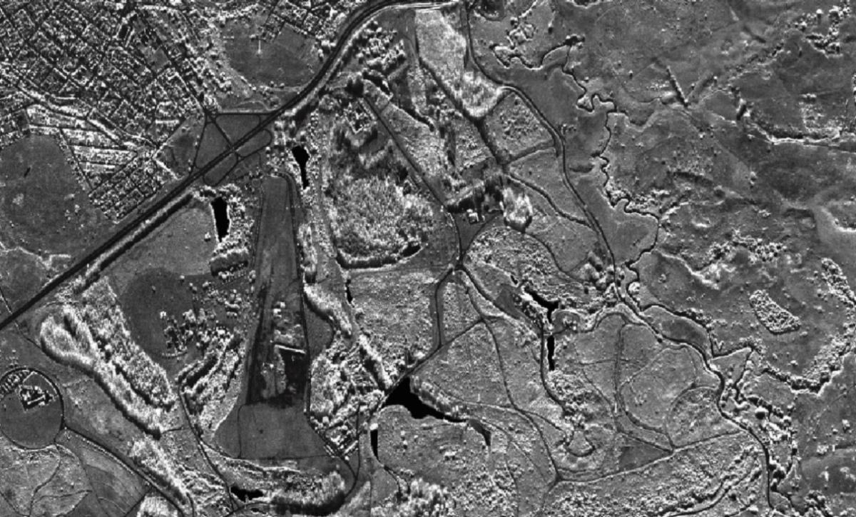 Ortoimagem Banda X com 50 cm de resolução espacial.