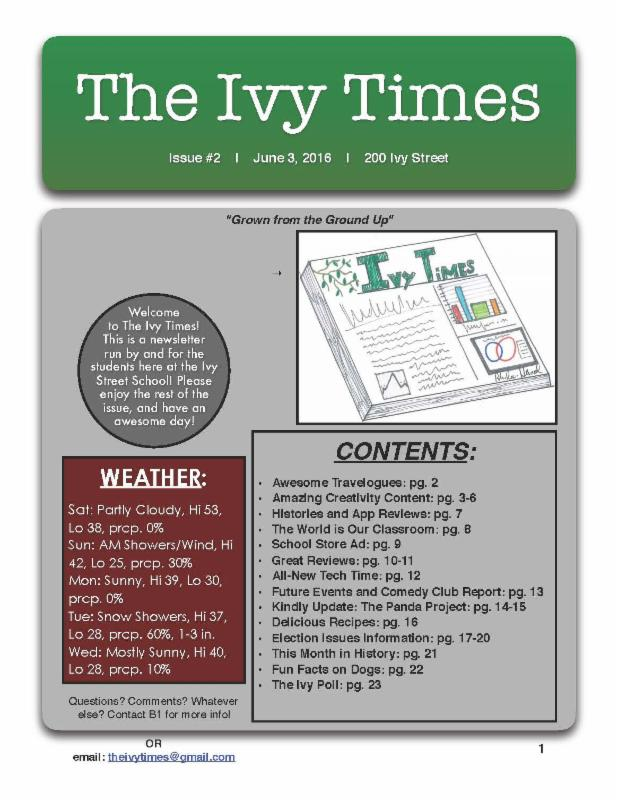The cover of the Ivy Times issue 2