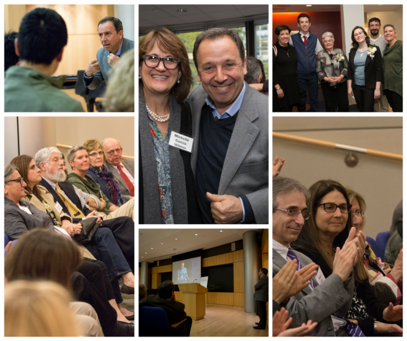 Photos of Ron Suskind and atendees