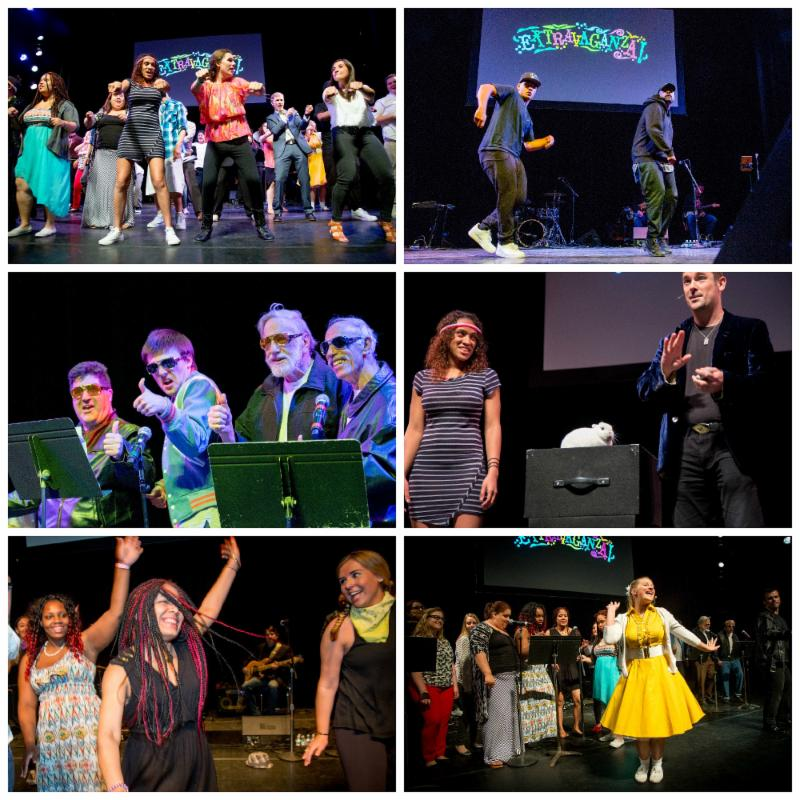 A collage of photos from Extravaganza 2016