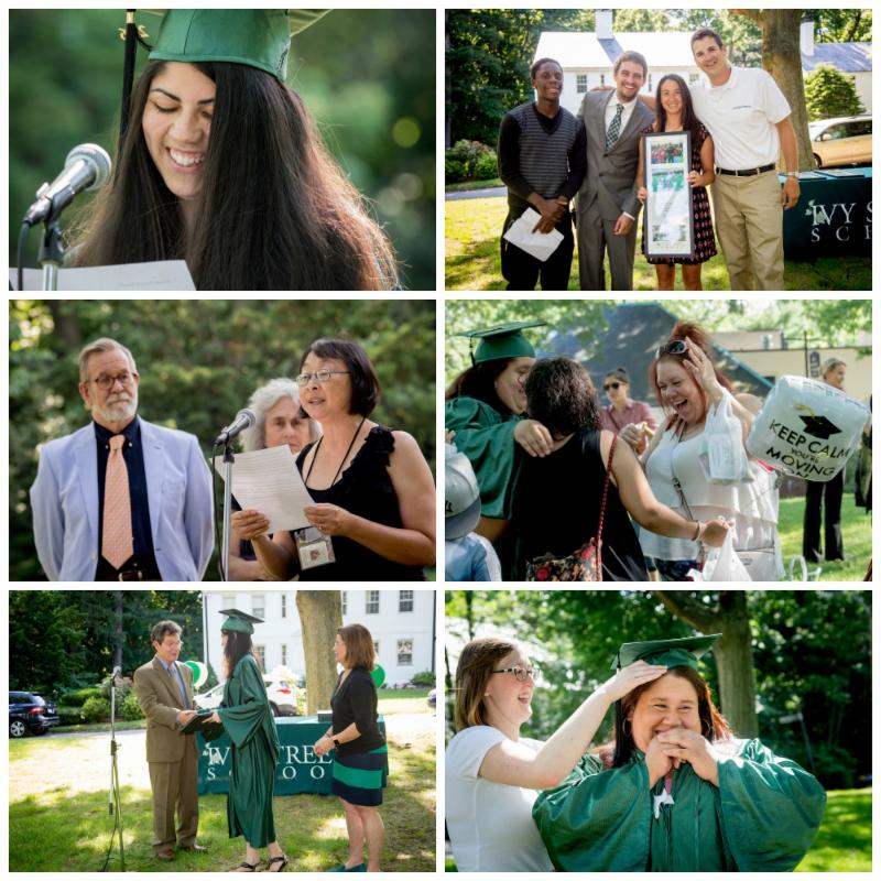 a collage of photos from Graduation 2016