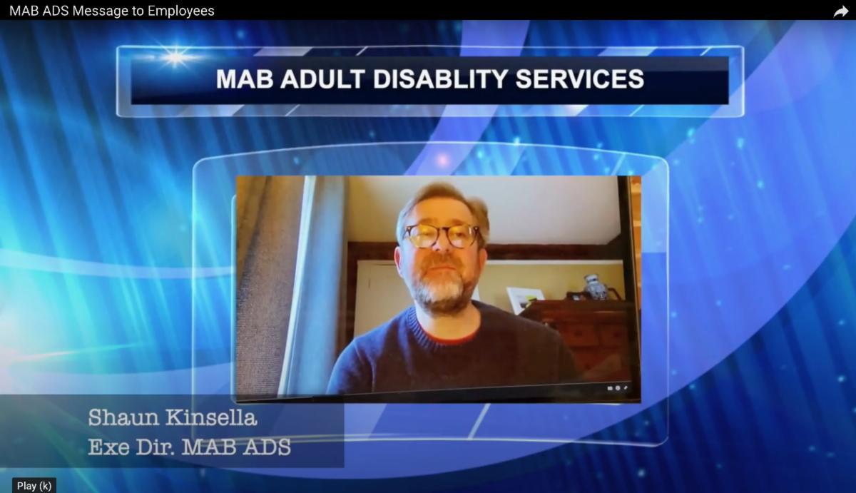 Shaun Kinsella message to MAB ADS staff