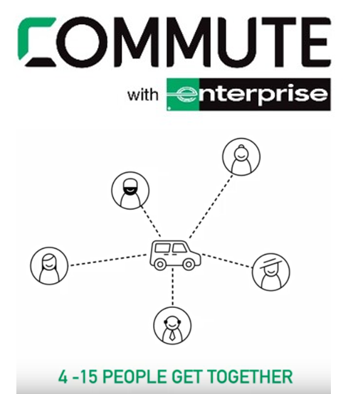 Commute with Enterprise and 4 to 15 of your co-workers or neighbors