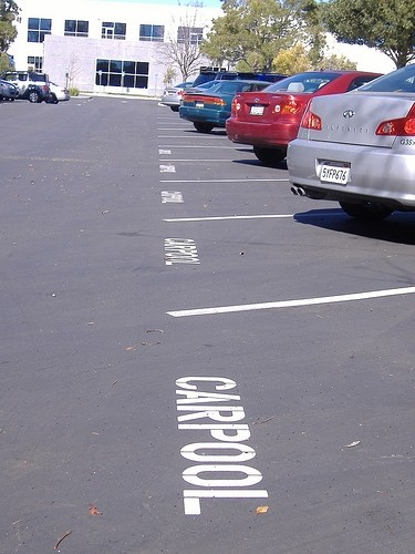 Carpool Preferential Parking Spaces