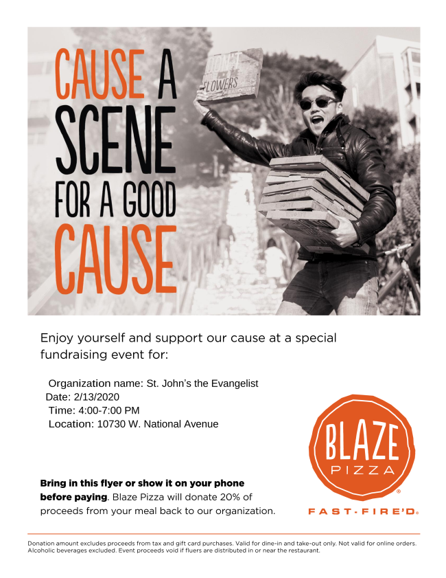 blaze pizza night