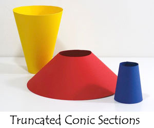 Truncated conic sections