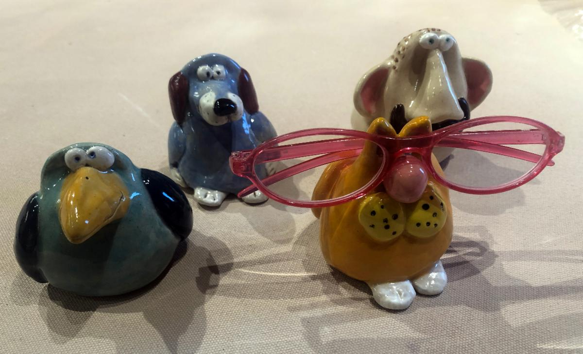 Glasses holders by Ellen Finch