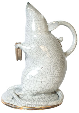 Rat With a Cookie Teapot by Craig Hinshaw