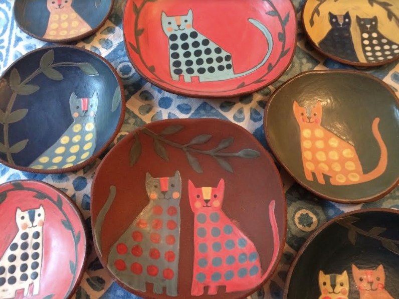 Plates by Nancy Bulkley