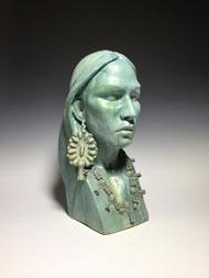 Bust by sculptor Clayton Keyesn